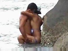 Flagra na praia beach fuck