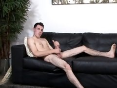 Inked army amateur wanking and tugging dick