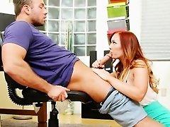 Hot Redhead Secretary Fuckes Long Boss Cock Dani Jensen