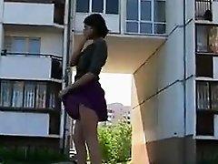 Girl In Heels Teasing Her Pussy