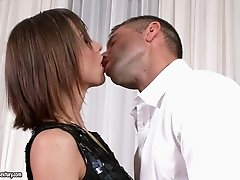 Tina Hot gets two gentlemen's cock banging her anal hardcore