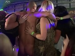 Interracial club party with babes giving blowjob Hardcore and getting drunk