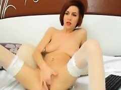 Redhead Fingers her Pussy till she Orgasm