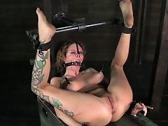 Bonded mouth gagged bitch being humiliated