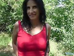 Public Agent Big-Titted insatiable nymph gets drilled in the forest for money