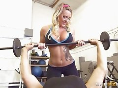 Working out in the gym always leads Cali to another pussy penetration