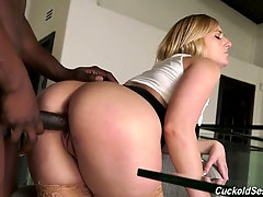 BBC fucks plump pussy of Kate England in front of her cuckold husband