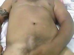 Latin cub plays his cock