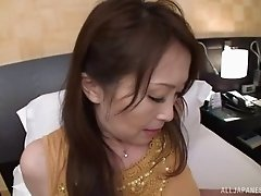 Sweet Asian lass gives a blowjob and moans during the hard humping