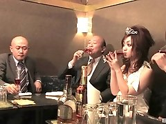 Cute Rui Yazawa gets her hairy pussy pleased by kinky friends