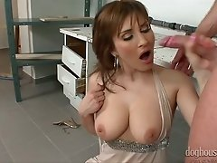 His first insatiable milf fucks him hard right on the floor