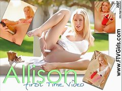 Allison Pierce Double Dildo Fun