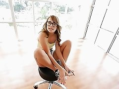 Kimmy Granger rides that big cock on top