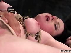 Brunette slave anal gaped from master trainer