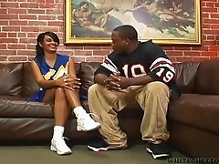 Ebony hottie Nyla Danae enjoys riding her BF's BBC