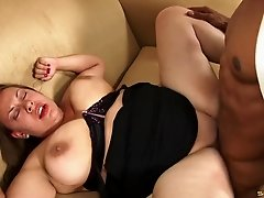 A chubby white girl needs that black dick to get herself off