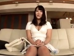 Dazzling Japanese babe takes a POV shaft deep in her pussy