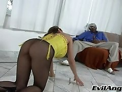 Sexy Brunette Chick Cytherea Gets Nailed By A Big Black Cock