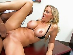 Julia Ann is quite tall and when it comes to sex she is the real fucking deal