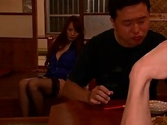 A guy fucks Hitomi Tanaka then cums on her gigantic tits