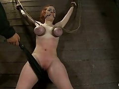 Redhead Iona Grace get fucked with a strap-on by Isis