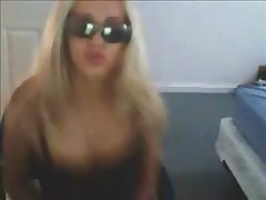 Awesome Dildo Fucking Sexy Blonde On Webcam