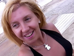 Mature blonde Eva Persson picked up on the beach for a hardcore fuck