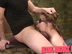Handcuffed nympho with juicy ass Kayleigh Nichole is made for rough sex