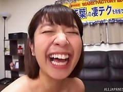 Wakaba's big desire is to give a stunning titjob with those juicy tits