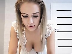 Sexy blonde masturbate live webcam for free titties