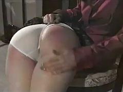 redhead gets a good spanking