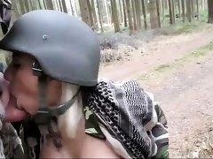 Bodacious German babe takes a POV cock for a ride outside