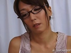 Appetizing solo hot ass girl Shiho drills her tight asshole with a sex toy
