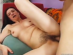 Wanton housewives get their hairy pussies fucked