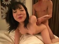 Japanese wife loves the thick cock in her furry love hole