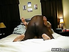 Big Housewife Filmed Riding A Black Cock