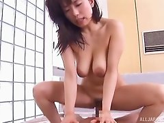 Two guys get wild with a cute hardcore Japanese slut