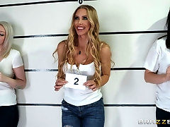 Nicole Aniston fucks a cop and swallows his load to get out of jail