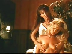 Celebrity B-movie lesbian boob message