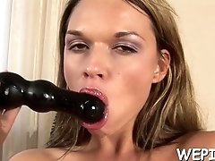 Naughty girl is pissing on cam