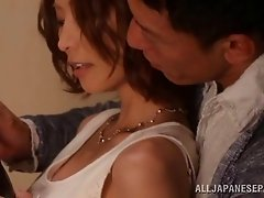 Asian dame with big tits coping with massive dick hardcore missionary
