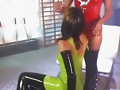 Lexi and Nadia Latex Lesbians